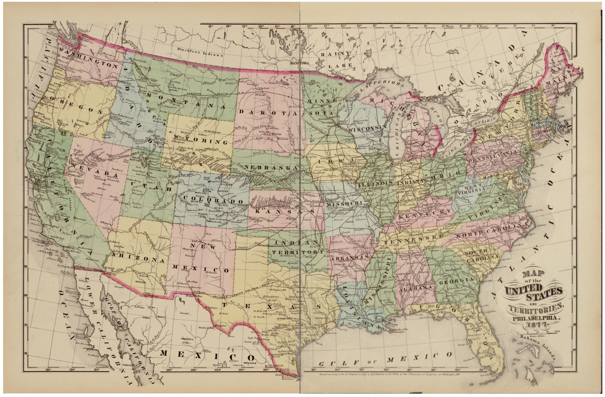 Use this resource to help plan your next visit to the west coast. Map Of The United States And Territories Library Of Congress
