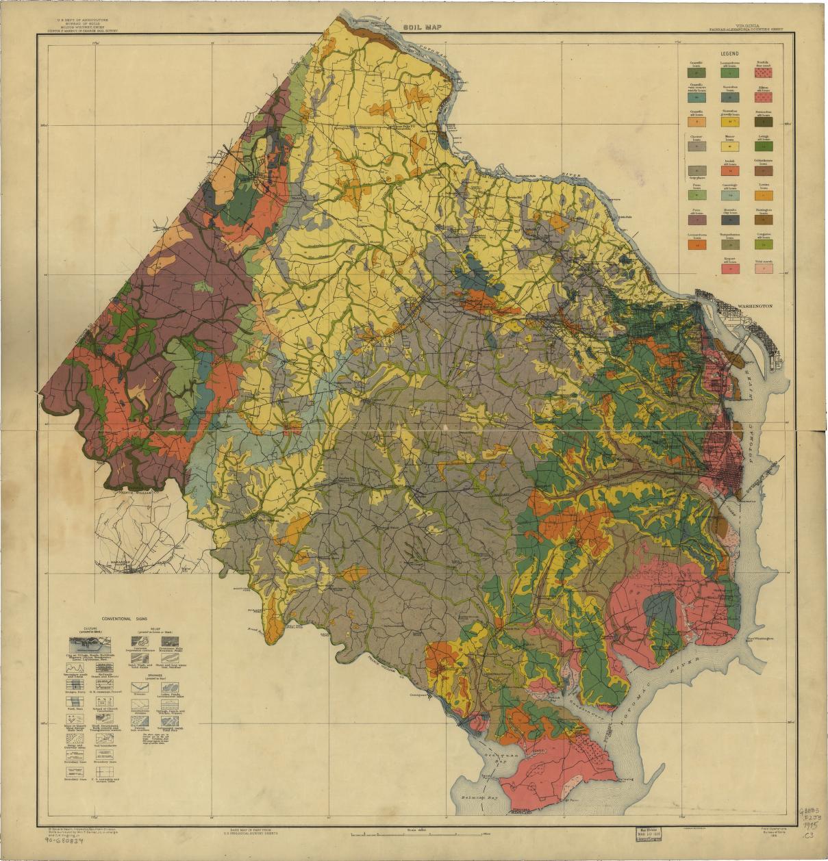 Virginia Fairfax Alexandria Counties Sheet Soil Map