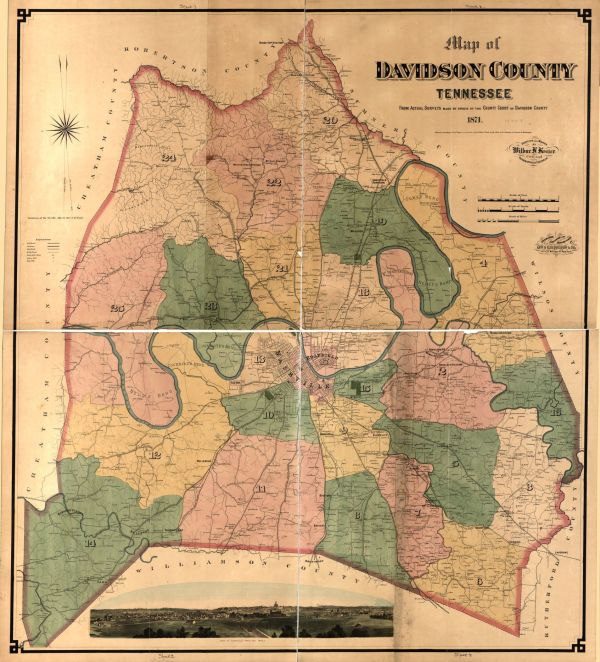 Map of Davidson County Tennessee from actual surveys made