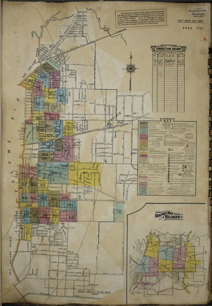 Memphis Tn Zip Codes Map : memphis, codes, 1900/1999,, Tennessee,, Memphis, Library, Congress