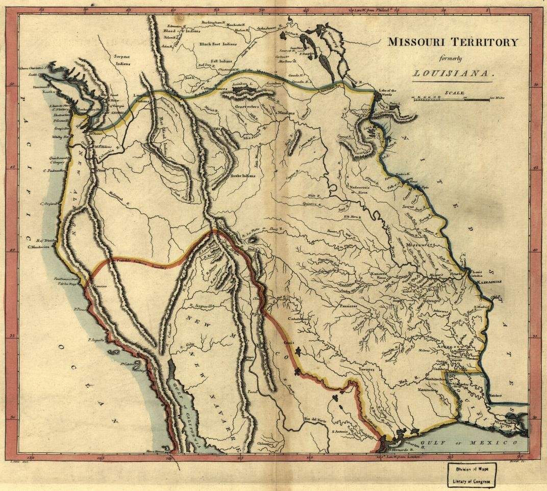 Missouri Territory Formerly Louisiana