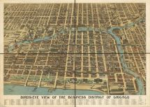 Bird'-eye-view Of Business District Chicago