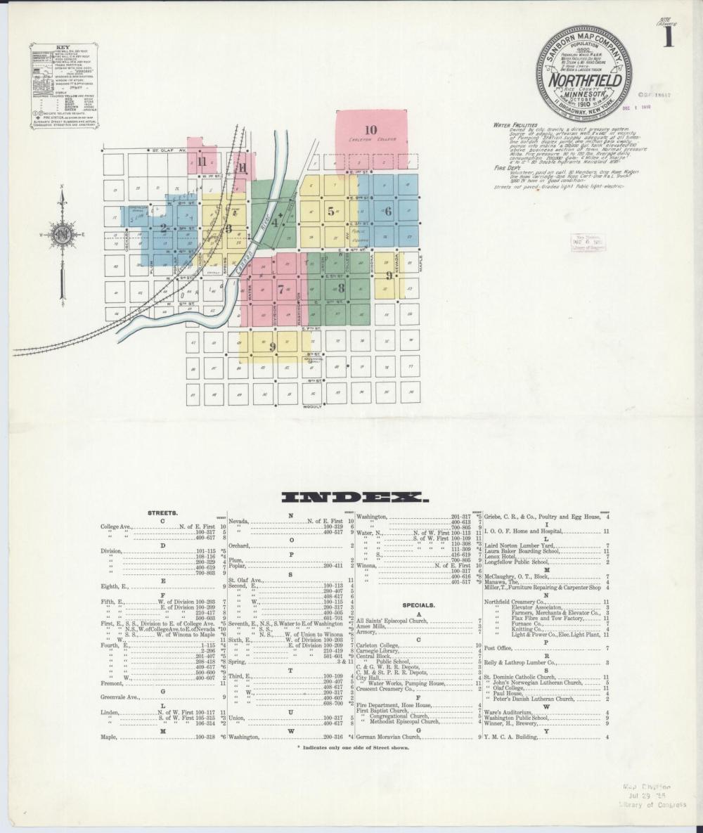 medium resolution of sanborn fire insurance map from northfield rice county minnesota library of congress