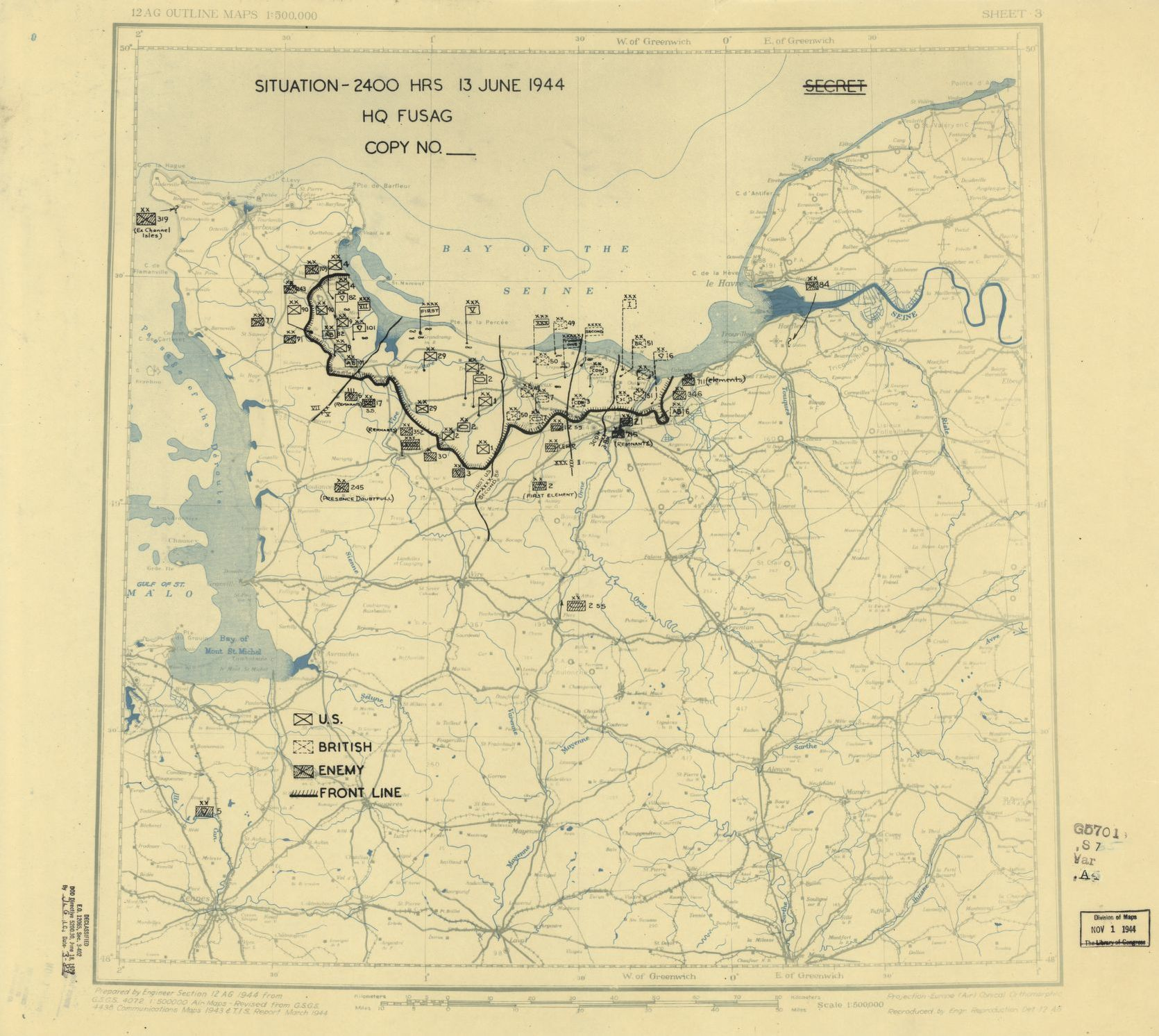 World War Ii Military Situation Maps Available Online