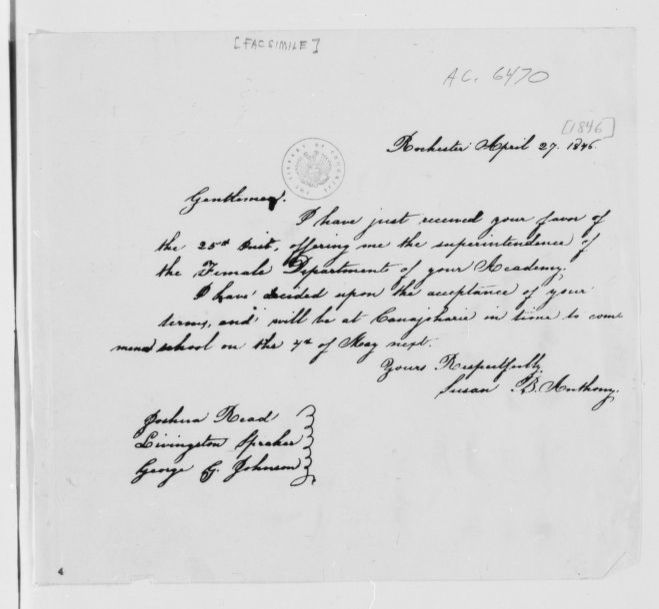 Susan B. Anthony Papers: Correspondence, 1846-1905; Bound