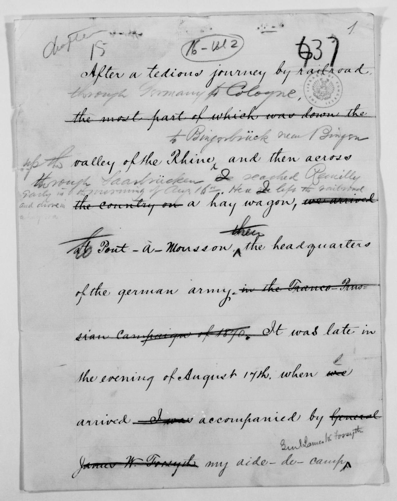 Philip Henry Sheridan Papers, Philip Henry Sheridan Papers