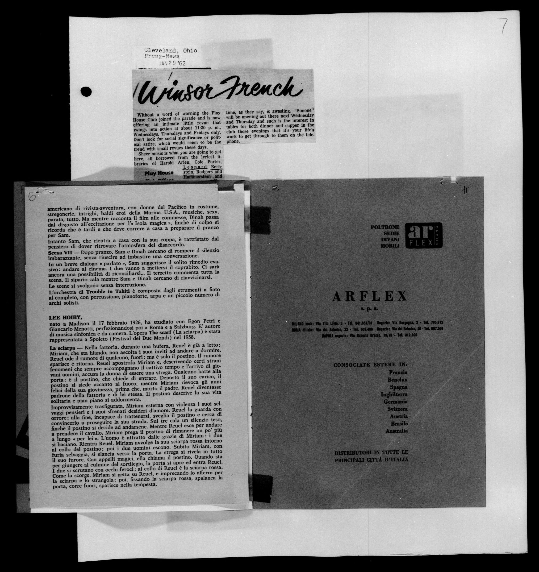 Vendita diretta a prezzo di fabbrica,a roma e provincia. Image 22 Of Leonard Bernstein Scrapbook Vol 44 Jan 17 1962 May 1 1962 Library Of Congress