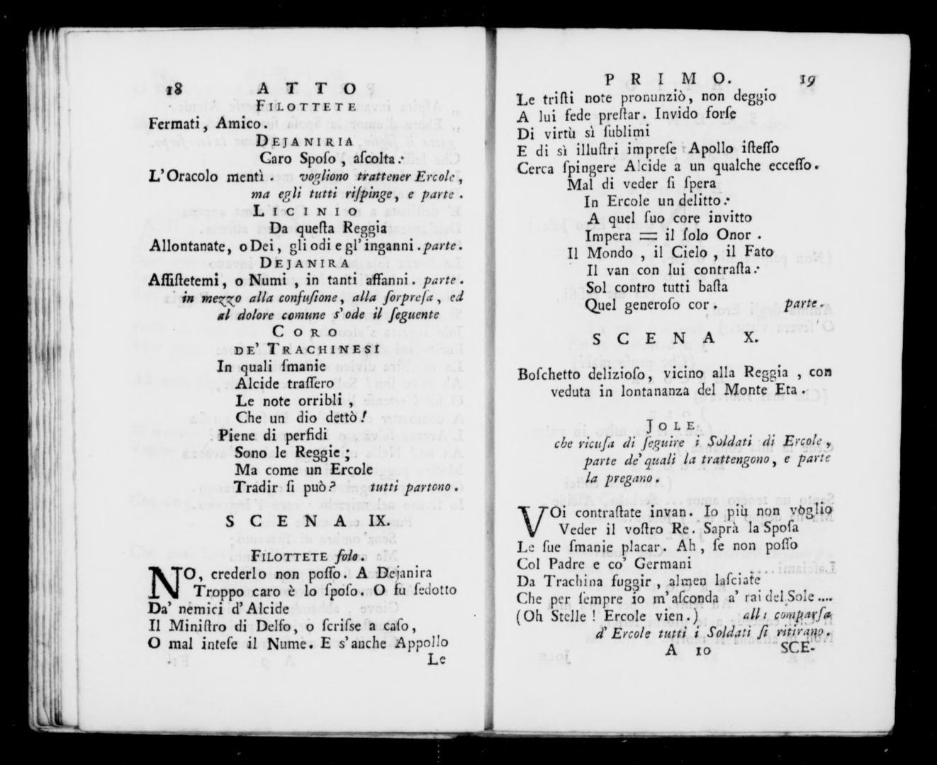 Albert Schatz Collection Apoteosi Dercole Libretto