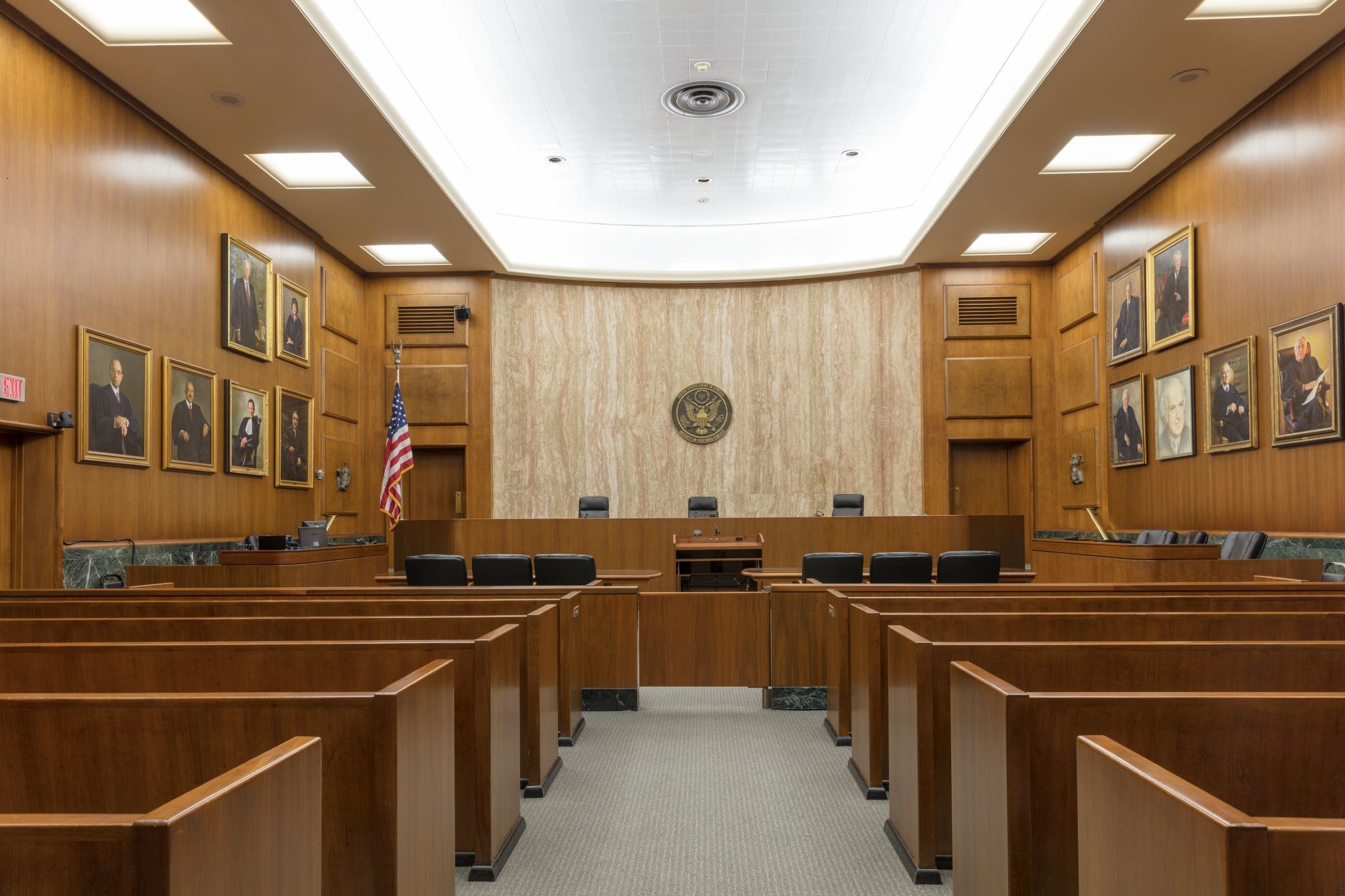 Courtroom In The Historic E Barrett Prettyman Federal