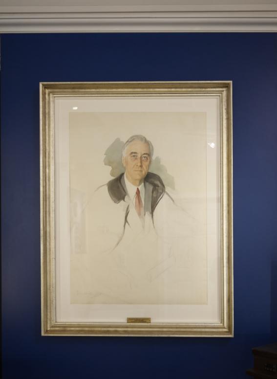 Unfinished Portrait Of Franklin D Roosevelt : unfinished, portrait, franklin, roosevelt, Elizabeth, Shoumatoff's,