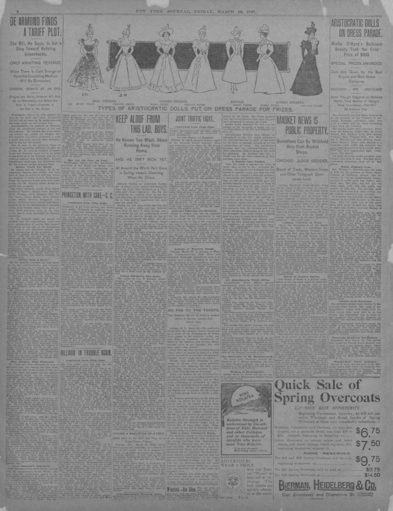 Chambre Loft Falk Image 4 Of New York Journal New York N Y March 26 1897