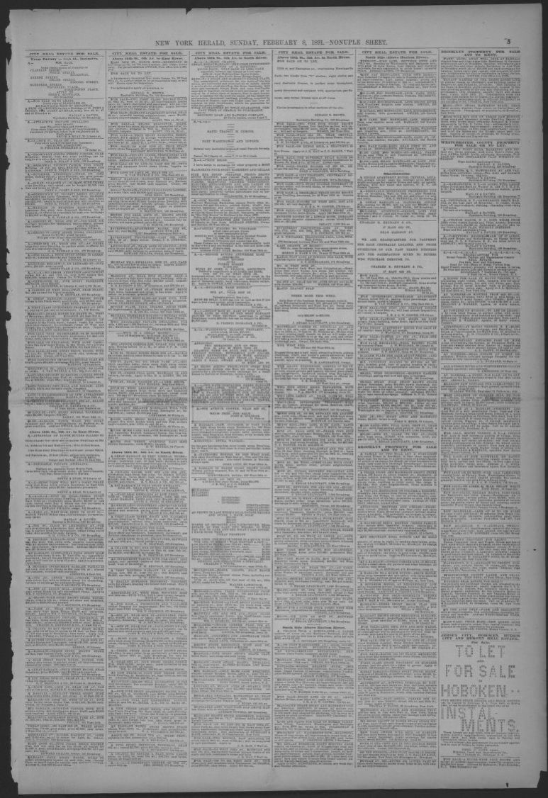 hight resolution of image 5 of the new york herald new york n y february 8 1891 library of congress