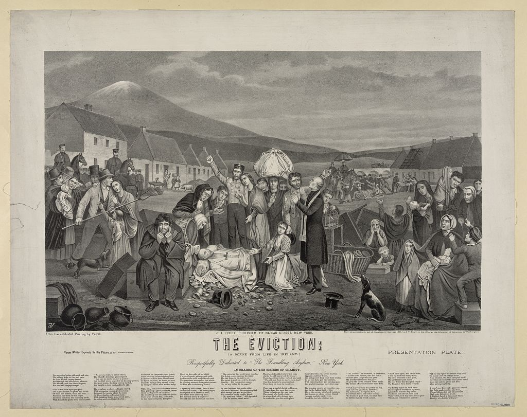 The eviction: a scene from life in Ireland / VE [monogram printed in  reverse] ; from the celebrated painting by Powell. | Library of Congress