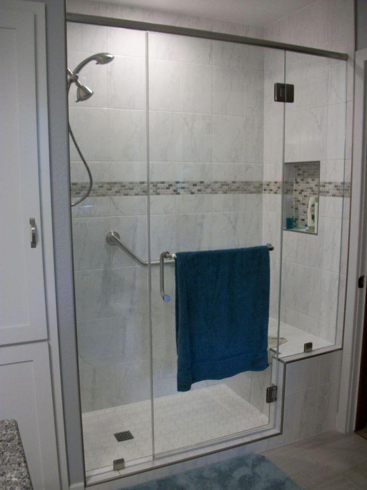 Carrara White Ceramic Tile Shower N Koehn Tile El Campo TX
