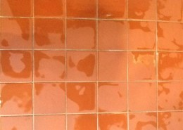 After - Cleaned Quarry Tile