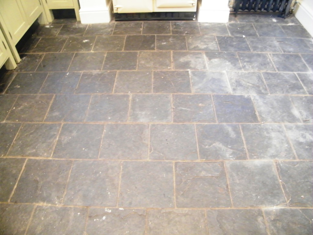 slate kitchen floor white appliances knypersley staffordshire tile stone medic