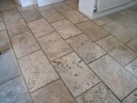 Travertine floor restoration in Church Minshull, Nr ...