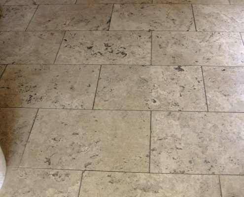 Travertine Hallway Cleaning Sealing And Polishing In