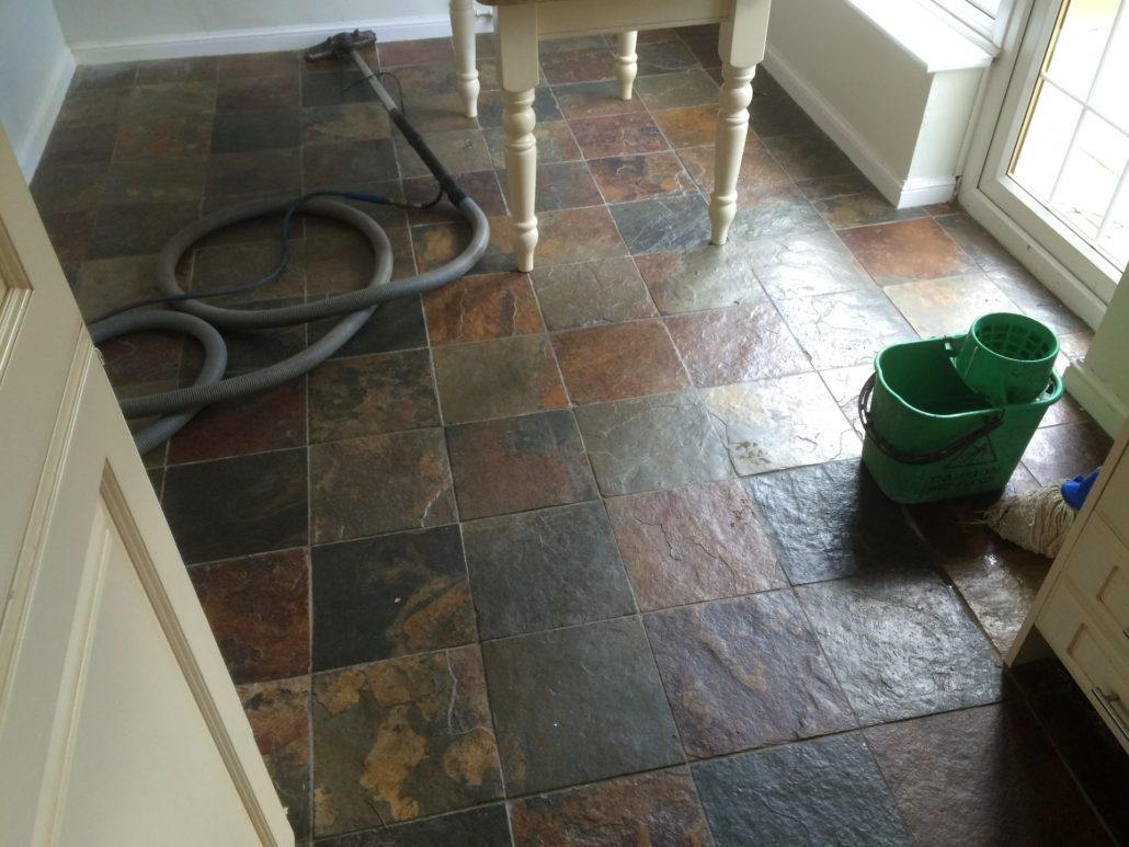 Welsh slate floor stripping cleaning sealing polishing this as you can see has brought out all the colours in the floor and also makes it far easier to clean and maintain dailygadgetfo Images