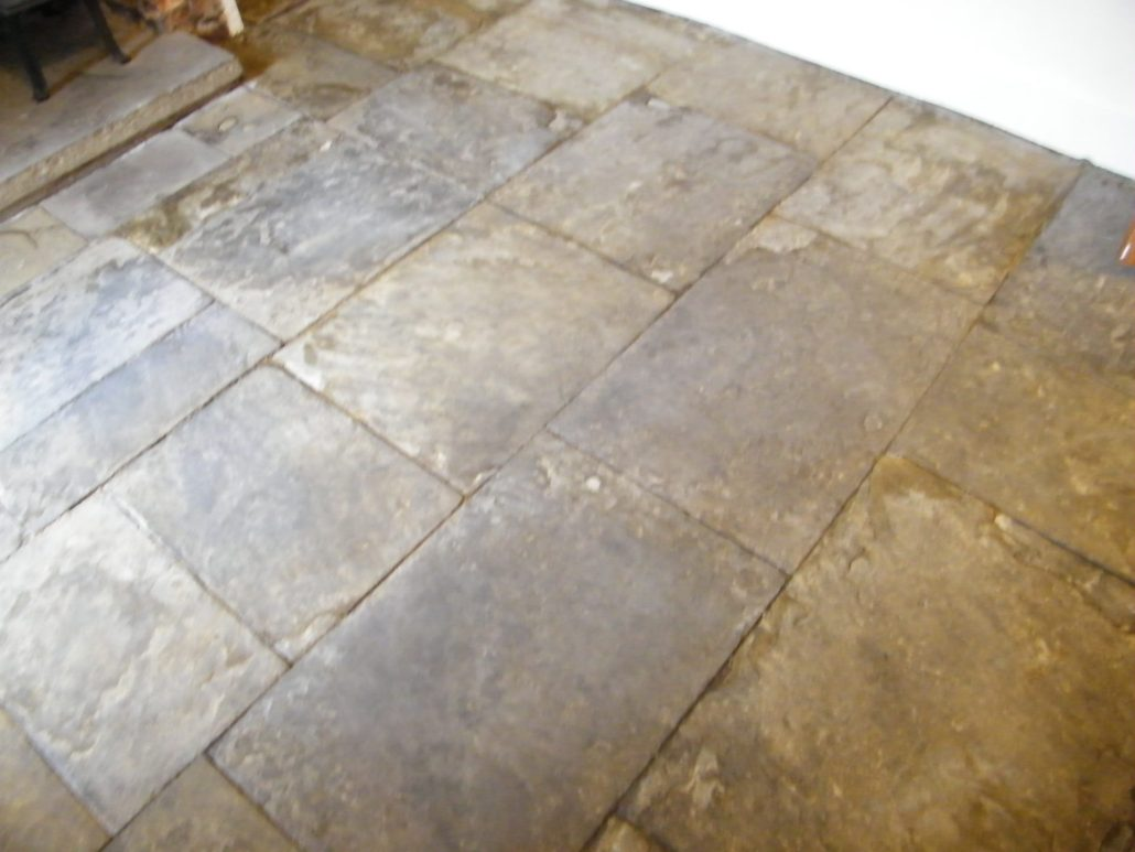 Flagstone Floor Stripping Cleaning And Sealing For Mrs