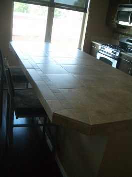 Tiled porcelain countertop / bar in Fort Collins
