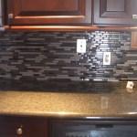 Glass tile kitchen backsplash in Northern Colorado