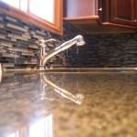 Glass tile kitchen backsplash in Fort Collins, Colorado