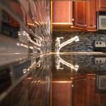 Glass tile backsplash in Fort Collins, Colorado