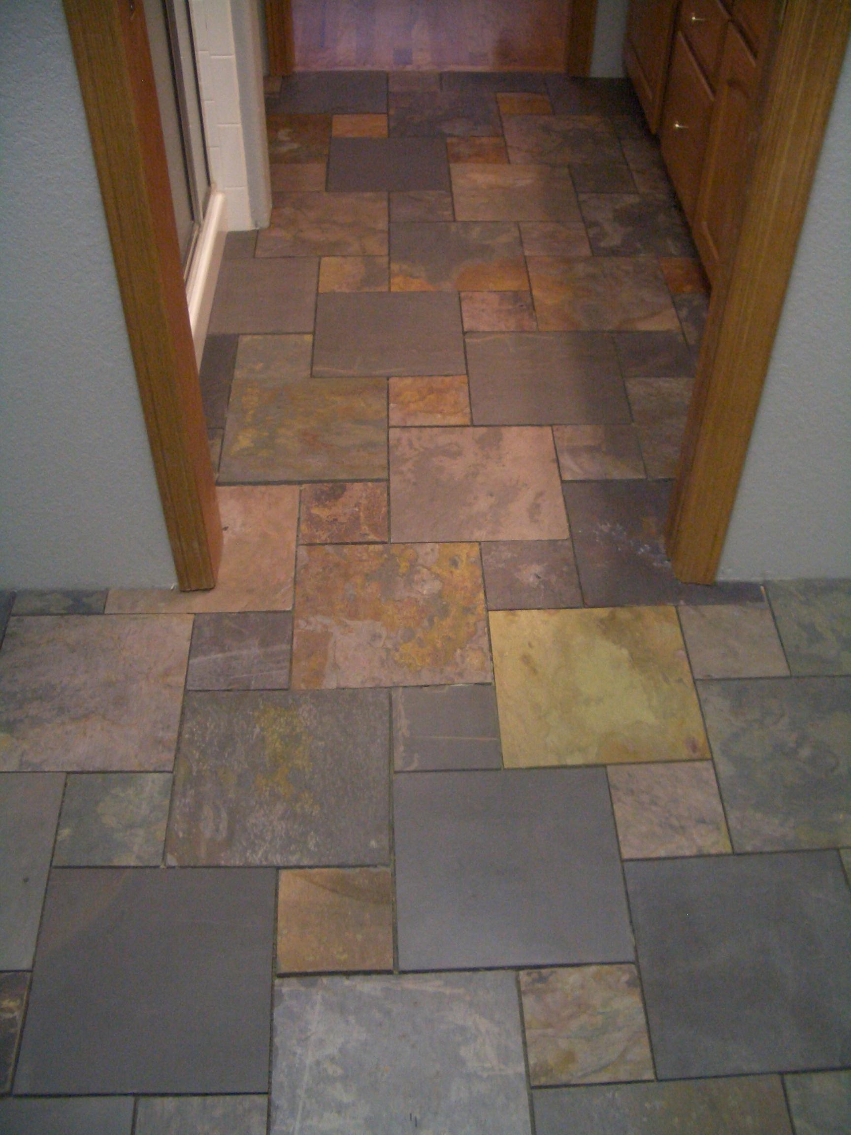 Slate Bathroom Floor Tile Ideas