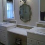 Bathroom Glass tile vanity backsplash contractor in Fort Collins, Colorado