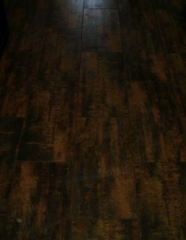 Porcelain plank flooring installation in Fort Collins, Colorado