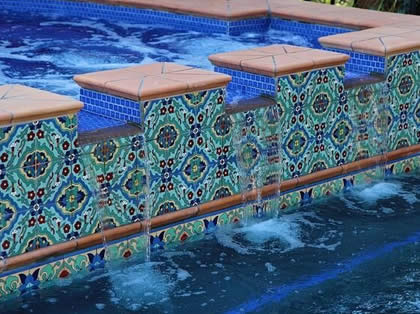 custom tile murals accent and outdoor