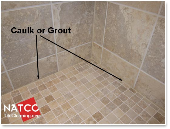 Where Should Grout And Caulk Be Installed In A Tile Shower