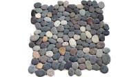 Natural Color Sea Pebbles Mosaic   tiledaily