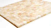 Honey Onyx Small Square Mosaic   tiledaily