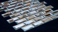 Mirror Beveled Brick Glass Mosaic  tiledaily