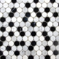 Marble Penny Round Mosaic  tiledaily