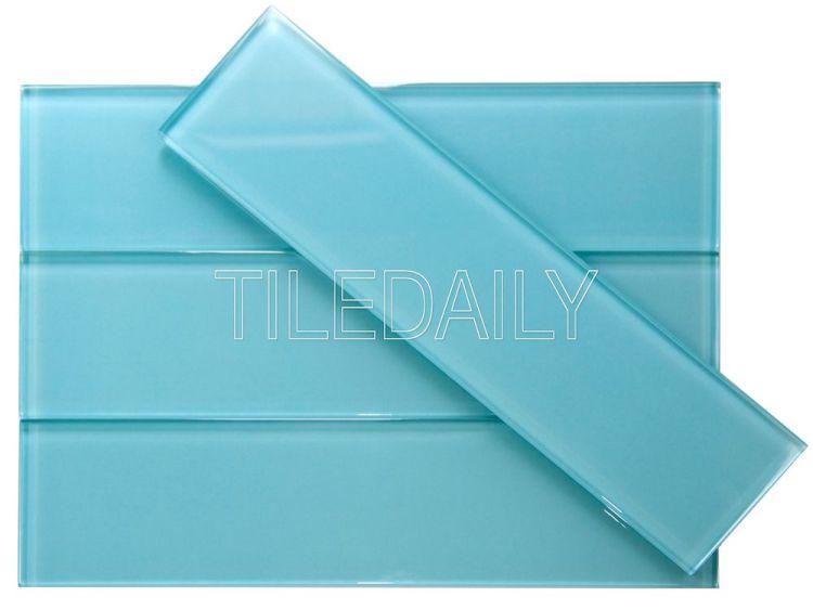 3 12 glass subway tile turquoise blue tiledaily