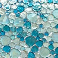 Iridescent Pebble Glass Mosaic, 3 colors  SALE  tiledaily