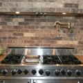 Faux brick tile backsplash in the kitchen tile everything there is