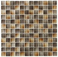 Murano Brown / Gold Mix Glass Mosaic - Tile Mania Glasgow