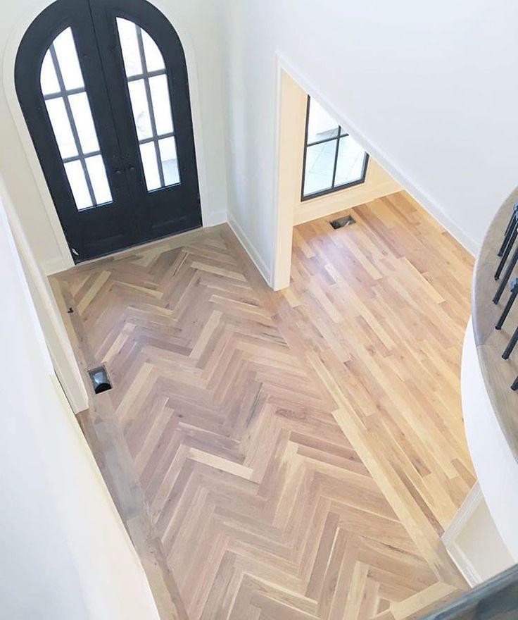 classical hallway look in wood tile