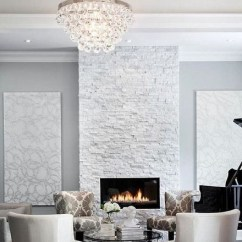 Ceramic Tile Kitchen Ideas On A Budget Fireplace - Anatolia Ledgestone Glacier 4