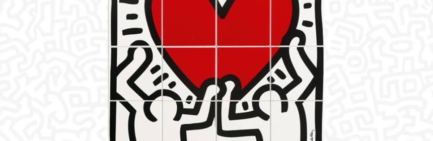 "Ascot Ceramiche | Keith Haring-inspired ""Game of Fifteen"" tiles"