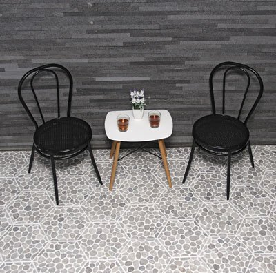 Island Stone's Honeycomb Cobbles mosaic tile in Sterling Grey