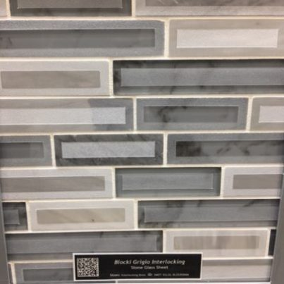 MSI International Blocki Grigio Interlocking Stone + Glass Mosaics