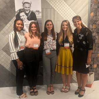 Pictured (from left) are students Anaya Kabasu, Makenna Wood, Grace Octdiek and Brianna Willis, with Crossville's Robin Rhea