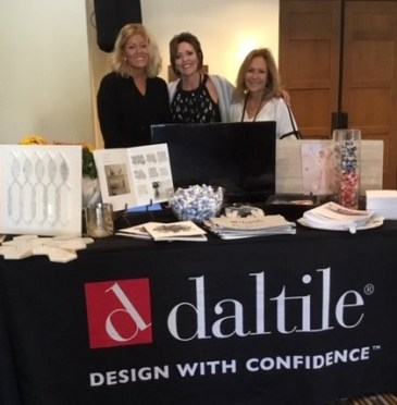 (left to right) Christie Collura, Sue Dissinger, and Eva Martinez (all of Dal-Tile Corporation) at WIRC 2019 conference.