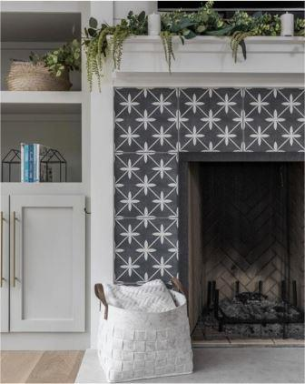 Sweet Farmhouse Dreams | Tile: Wicker Charcoal by Laura Ashley | Photographer: Liz Ramos