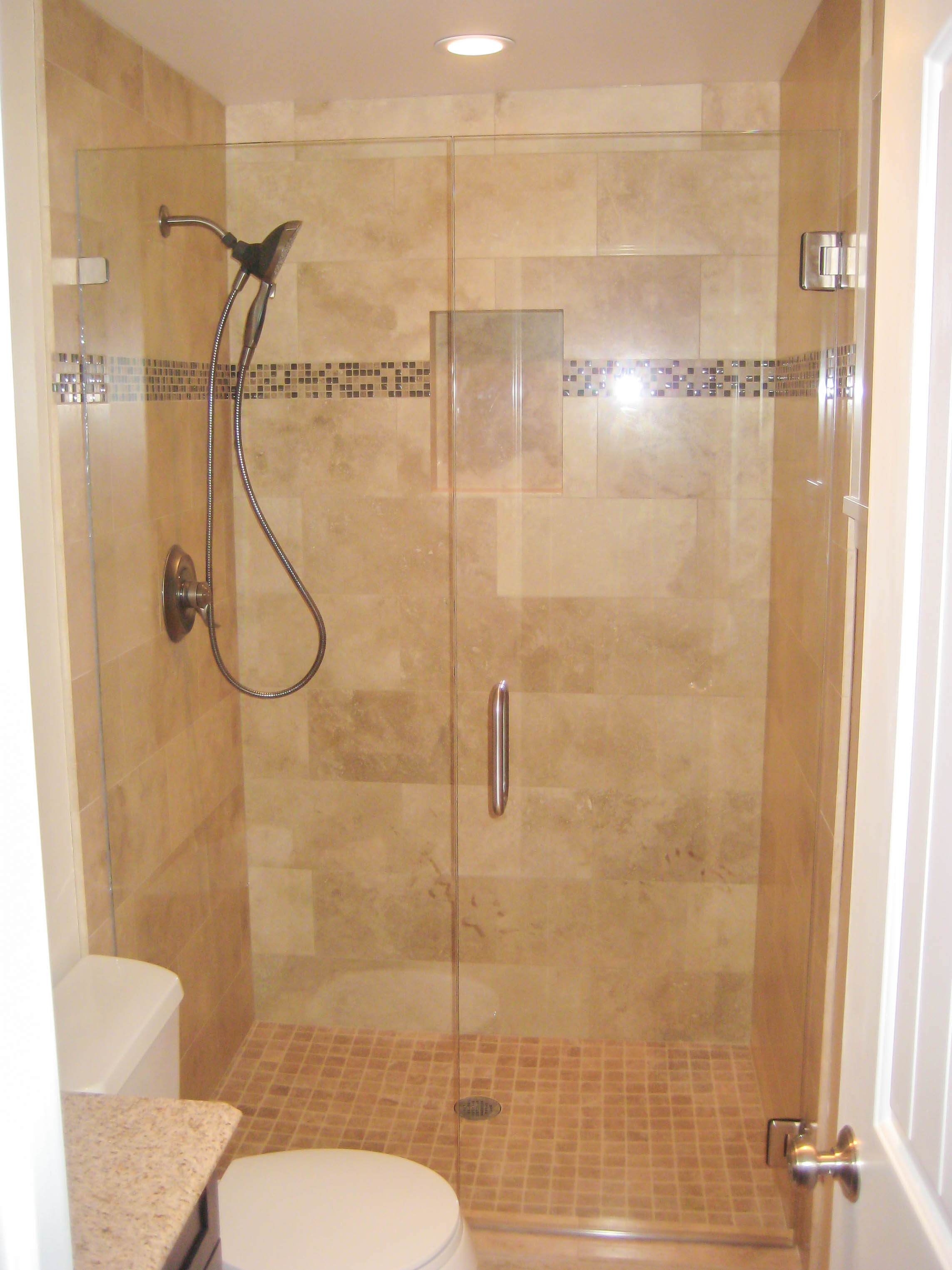 Tile Showers In Small Bathrooms 2017  Grasscloth Wallpaper